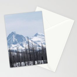 Snow On The Three Sisters Mountains 282 Stationery Cards