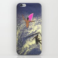 surfing iPhone & iPod Skins featuring SURFING by aztosaha