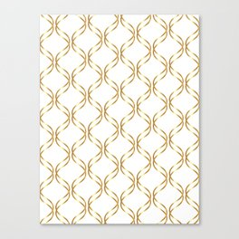Double Helix - Gold #741 Canvas Print