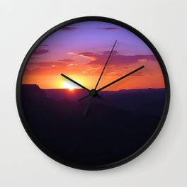 Colorful Grand Canyon Sunset Wall Clock