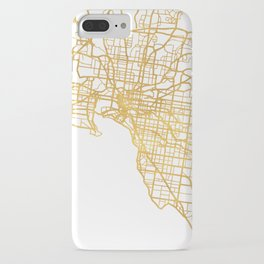 MELBOURNE AUSTRALIA CITY STREET MAP ART iPhone Case