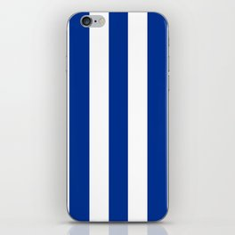 Air Force blue (USAF) - solid color - white vertical lines pattern iPhone Skin