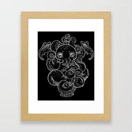 Cthulhu (B&W Version II) Framed Art Print
