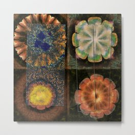 Faciolingual Concrete Flowers  ID:16165-090706-35861 Metal Print