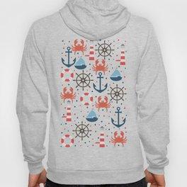 Sea blue pattern Hoody