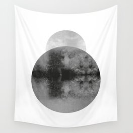 Moon Behind the Earth Wall Tapestry