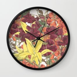 Bouquet of Rose, Freesia and Gladiolus Wall Clock