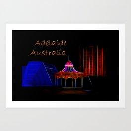 Electrified Adelaide Art Print