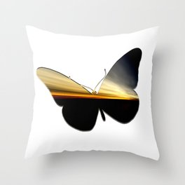 Butterfly - a year later Throw Pillow