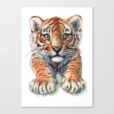 Playful Tiger Cub 907 Canvas Print