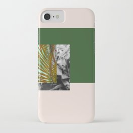 Gray and Green iPhone Case