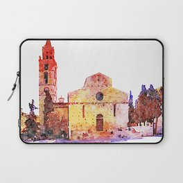 Teramo: cathedral, tree and bell tower Laptop Sleeve