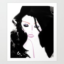 ShoulderGirl Art Print