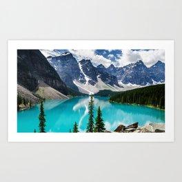 Lake Moraine Banff Art Print