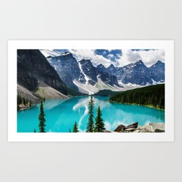 Lake Moraine Banff Art Print