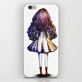 Faceless Girl and Red Doc iPhone Skin