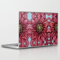 dahlia Laptop & iPad Skins featuring Dahlia by Valerie Anderson Art