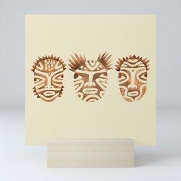 Ritual faces Mini Art Print