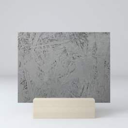 grey painted OSB Mini Art Print