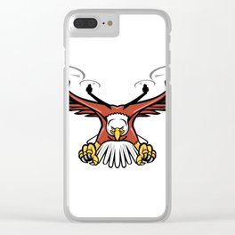 Half Eagle Half Drone Swooping Mascot Clear iPhone Case