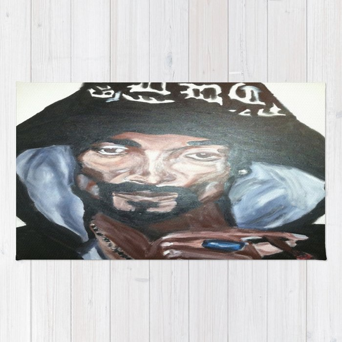 Snoop Dogg Fingerpainted Acrylic Painting Rug