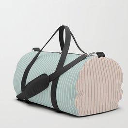 Color Block Lines XX Vintage Seafoam Duffle Bag