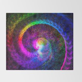 Spiral tie dye light painting Throw Blanket