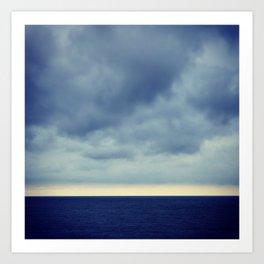Blue Sound Art Print