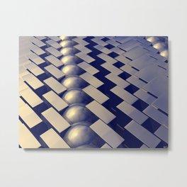 Geometric Shapes of Gold Metal Print