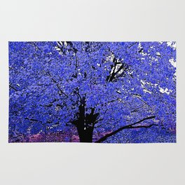 Trees Blue Purple Rug