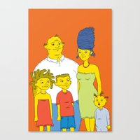 simpsons Canvas Prints featuring Los Simpsons by Matias Lucena