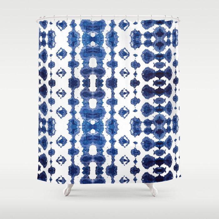 Shibori Habatoi Ikat Shower Curtain