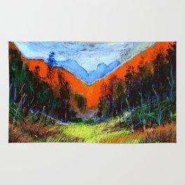 Mountain Meadow Landscape Rug