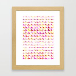 fete triangle pattern Framed Art Print