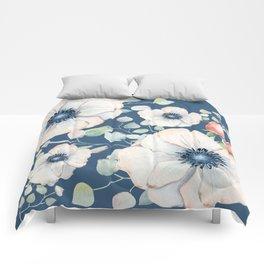 Summer Flowers Blue #society6 #buyart Comforters