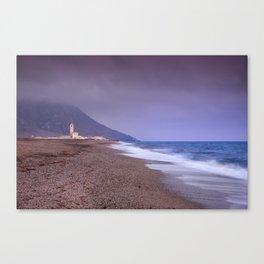 Salinas Beach At Sunset. Canvas Print