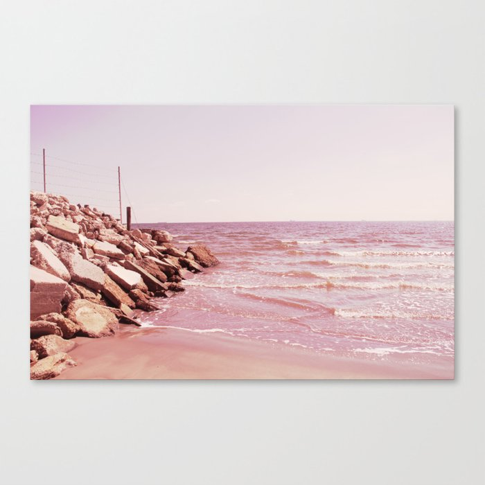Rosey Beaches Canvas Print