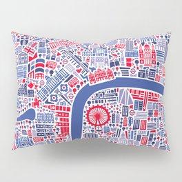 London City Map Poster Pillow Sham