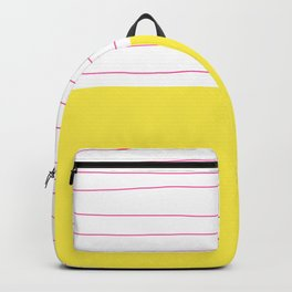 Yellow White Pink Backpack