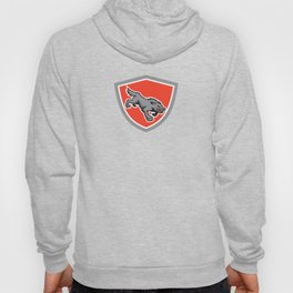 Angry Wolf Wild Dog Stalking Shield Retro Hoody