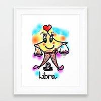 libra Framed Art Prints featuring libra by sladja