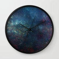 aqua Wall Clocks featuring aqua by Vita♥G