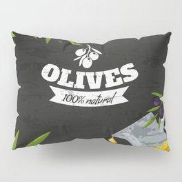 Olives retro poster #2 Pillow Sham