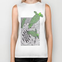 turtles Biker Tanks featuring Turtles by Kandus Johnson