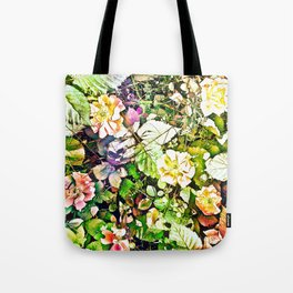 Scattered Blooms And Verdure Tote Bag