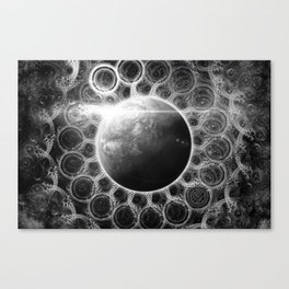 Beautiful Deep Dream Fractal Mandala of Kepler-62e Canvas Print