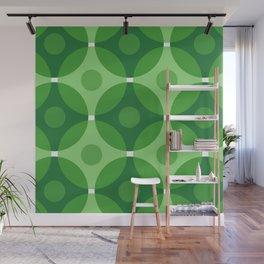 Green Circles Wall Mural