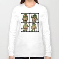 ninja turtle Long Sleeve T-shirts featuring Teenage Mutant Ninja Turtle by Robbleeart