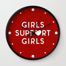 Girls Support Girls Feminist Quote Wall Clock