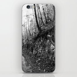 Forest black and white 9 iPhone Skin